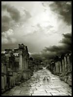 Ephesos Main Street by orcunceyhan