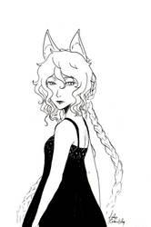 [INKtober 2018] Day 30 - Kaori by MaelysTremblay