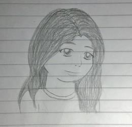 Self-Portrait...? by DeeBlooStarGurl