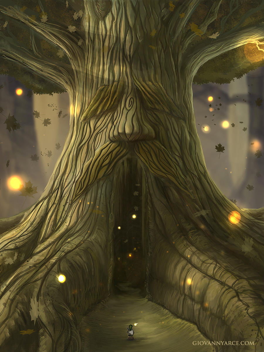 Deku Tree - The legend of zelda, Ocarina of time by GiovannyArce