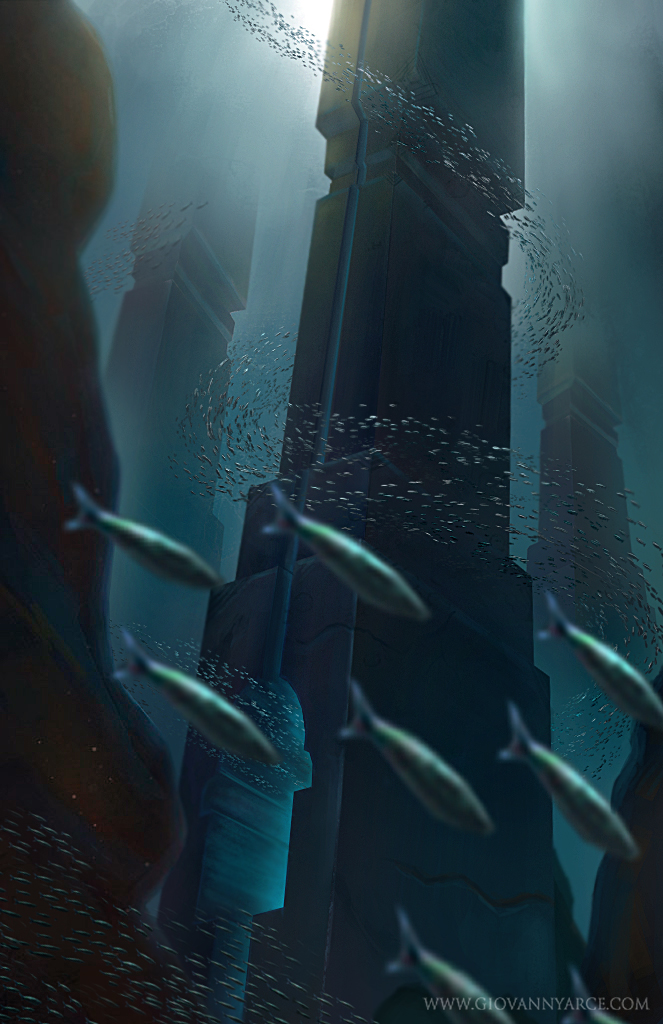 Underwater Monolith by GiovannyArce