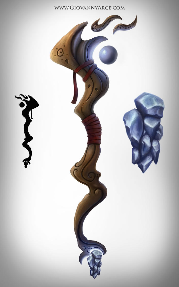 Magic wand concept art by GiovannyArce