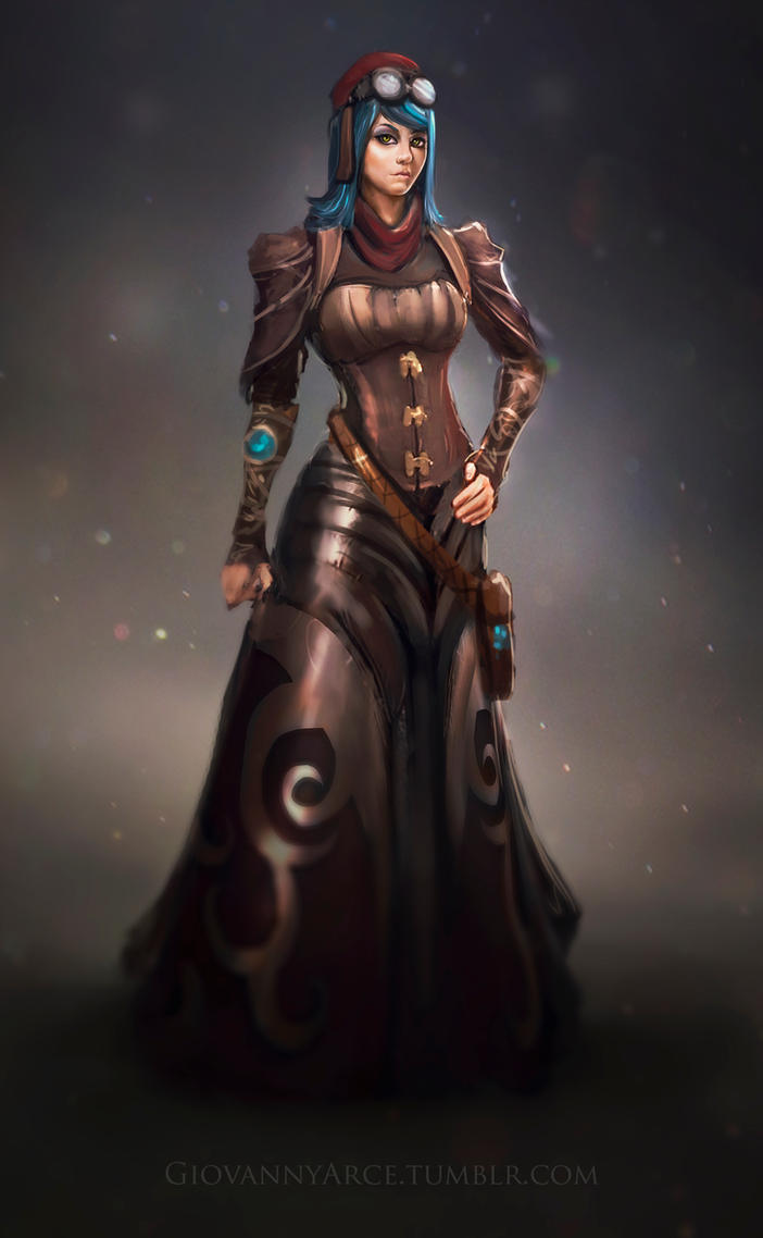Character concept art, steampunk theme. by GiovannyArce