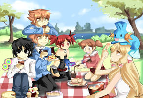 Anime picnic by sakura02