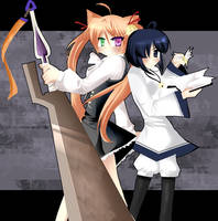 Asuna and Nodoka by sakura02