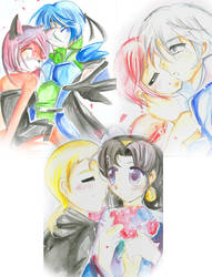 watercolor collage by sakura02