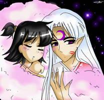 Rin and Sesshomaru by sakura02