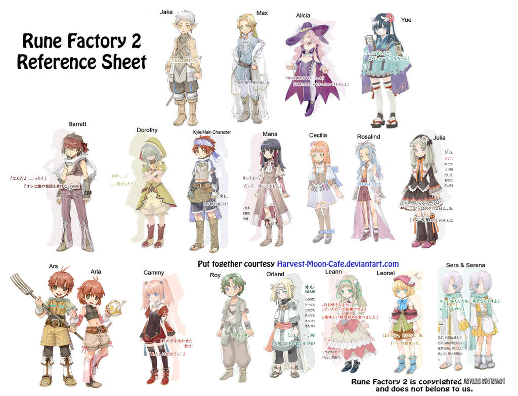 Ushi No Tane Harvest Moon View Topic Rune Factory Character ConnectionsFamily Trees