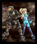 Master Chief and Samus Aran
