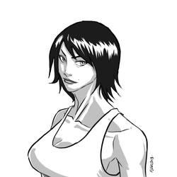 Inking on Manga Studio 5 by fleng