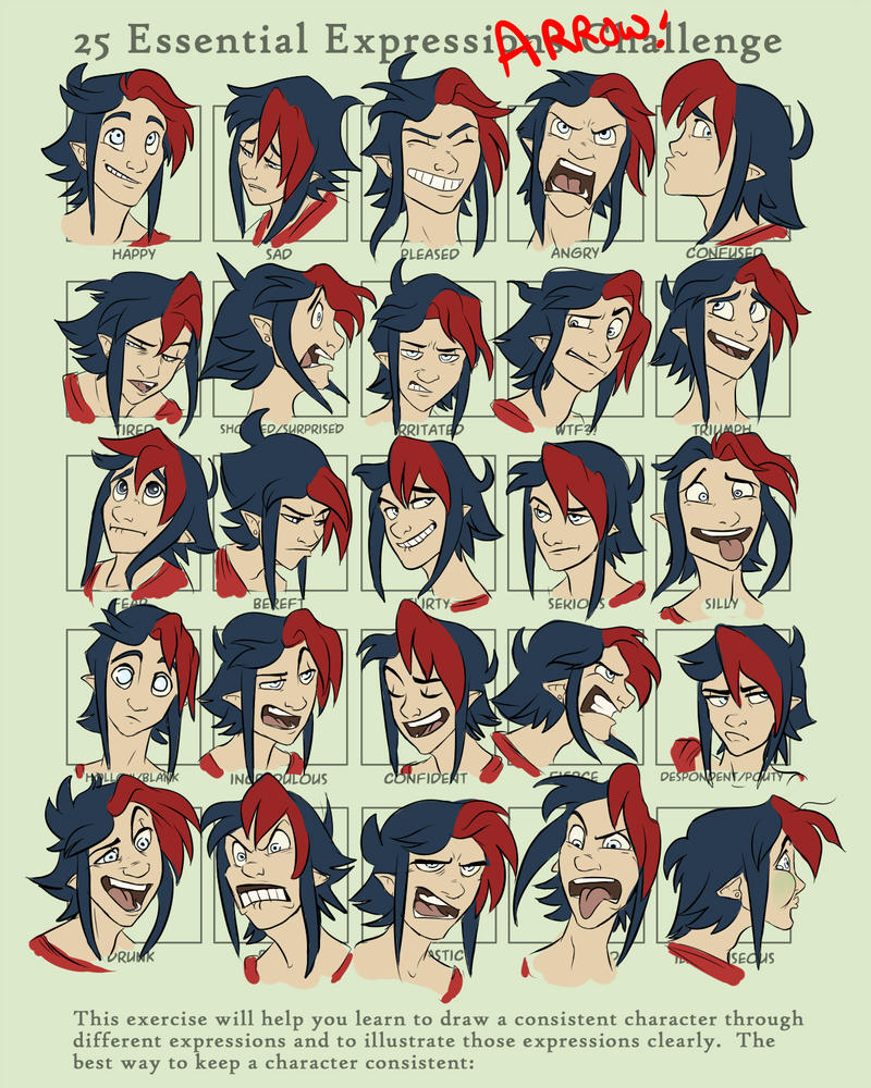 25 Expressions with Arrow by 1skylight1