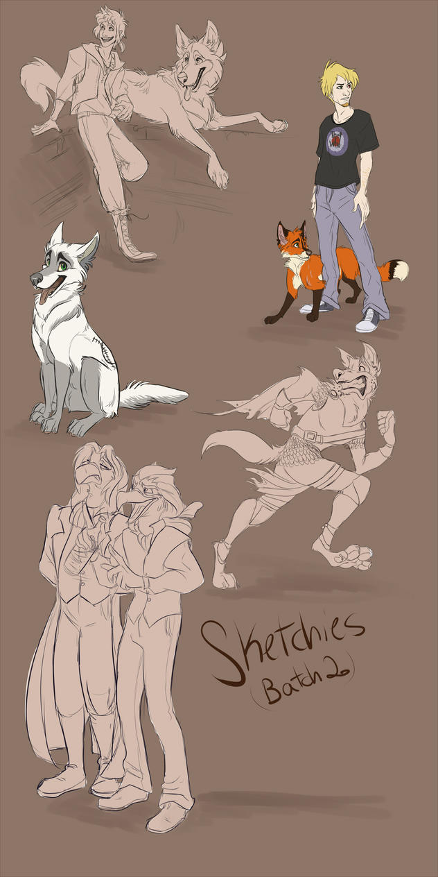 Sketch Commissions Batch 2 by 1skylight1