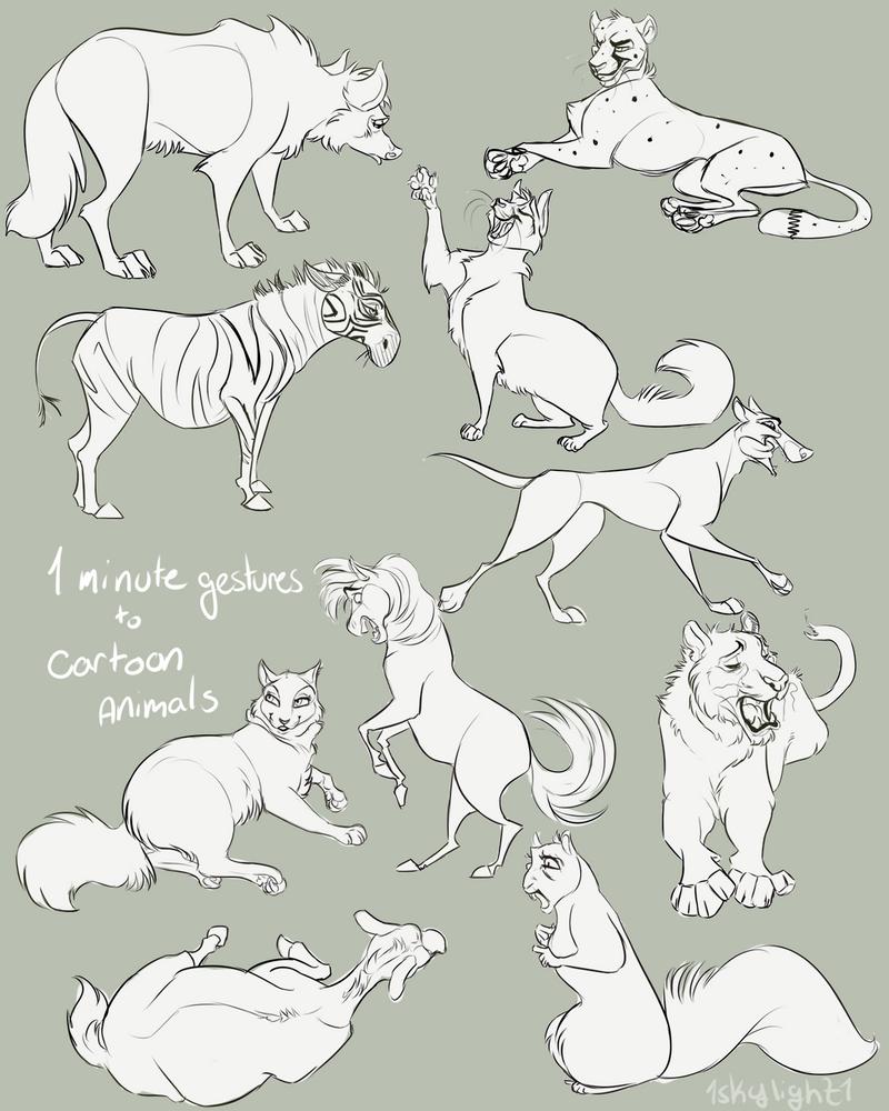 Art Of Animal Character Design Pdf : Cartoon animal gestures by skylight on deviantart