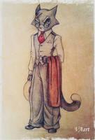 Mordecai Heller - Lackadaisy VAart by Anastasia1995art