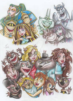 Pupils of the MonsterHigh and their parents)