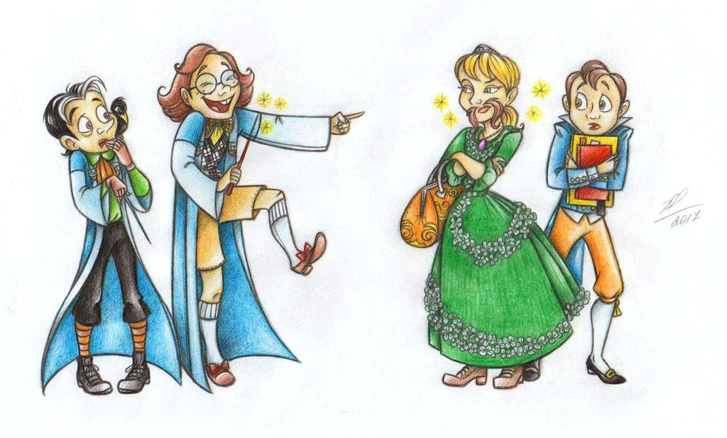 Day pranks at the School of sorcery) by Anastasia1995art