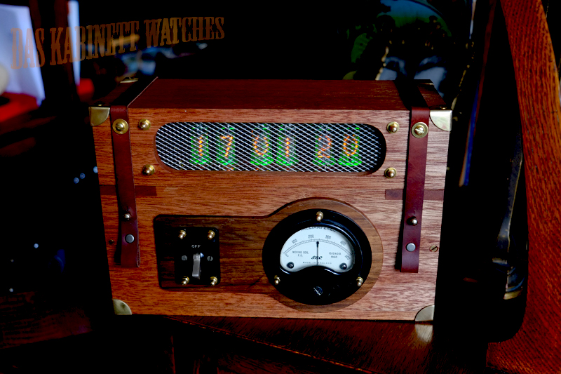 Steampunk Dieselpunk Nixie Clock Switchbox By DasKabinettWatches