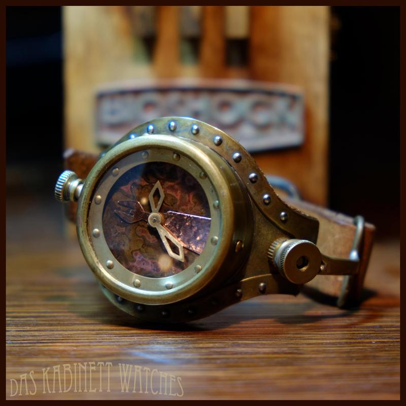 OOAK Bioshock ~Subject Delta~ watch by DasKabinettWatches