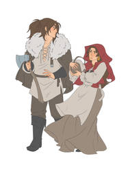 Red Riding Hood and the Woodsman by Eupraxia