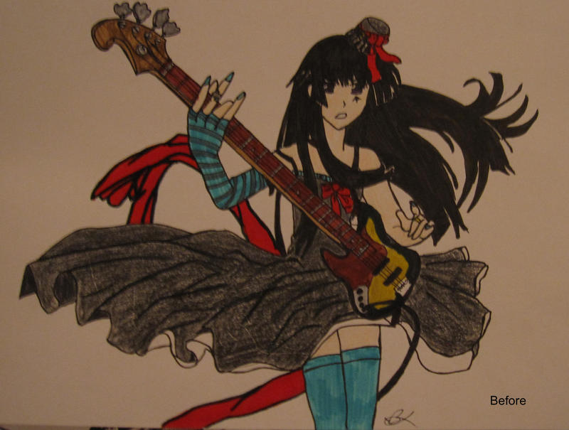 Anime Guitarist (Before) by Deadberri
