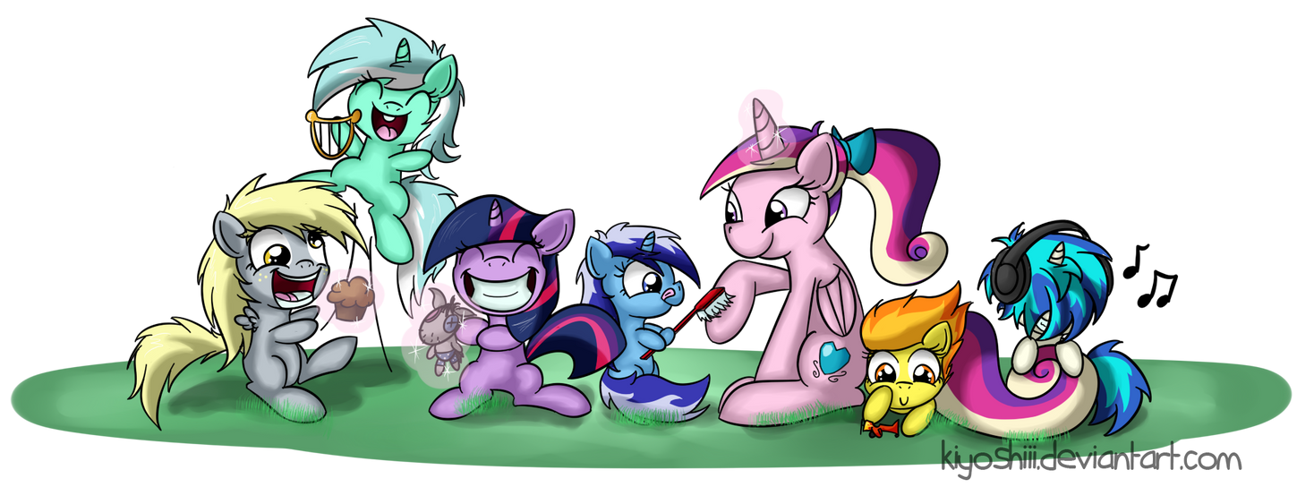 Best foal sitter in all over Equestria by Kiyoshiii