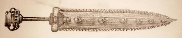 Steampunk Chain Sword by WurdBendur