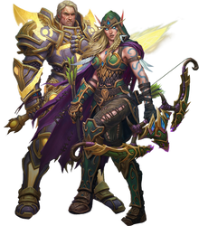Alleria Windrunner and Turalyon PNG by Daerone