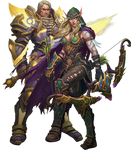 Alleria Windrunner and Turalyon PNG
