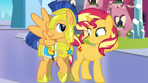 Sunset and Flash as a couple 4 (pony)