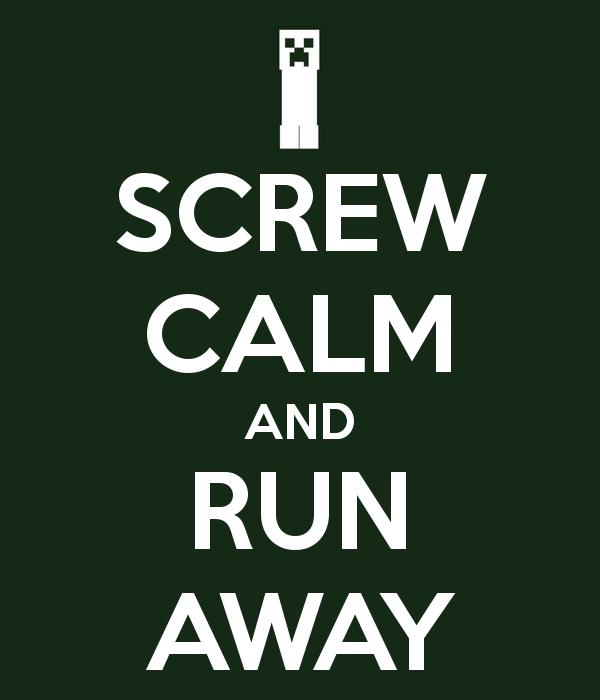 Minecraft - Screw Calm by Kunstlerromanable