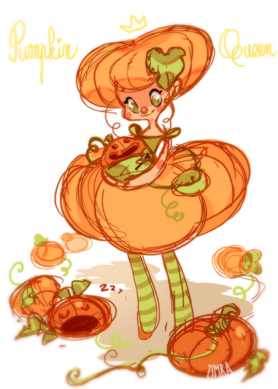 Pumpkin Queen by zimra-art