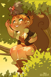 Squirrel Girl (and Tippy-Toe!) by zimra-art