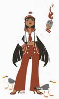 Sailor Mars redesign by zimra-art