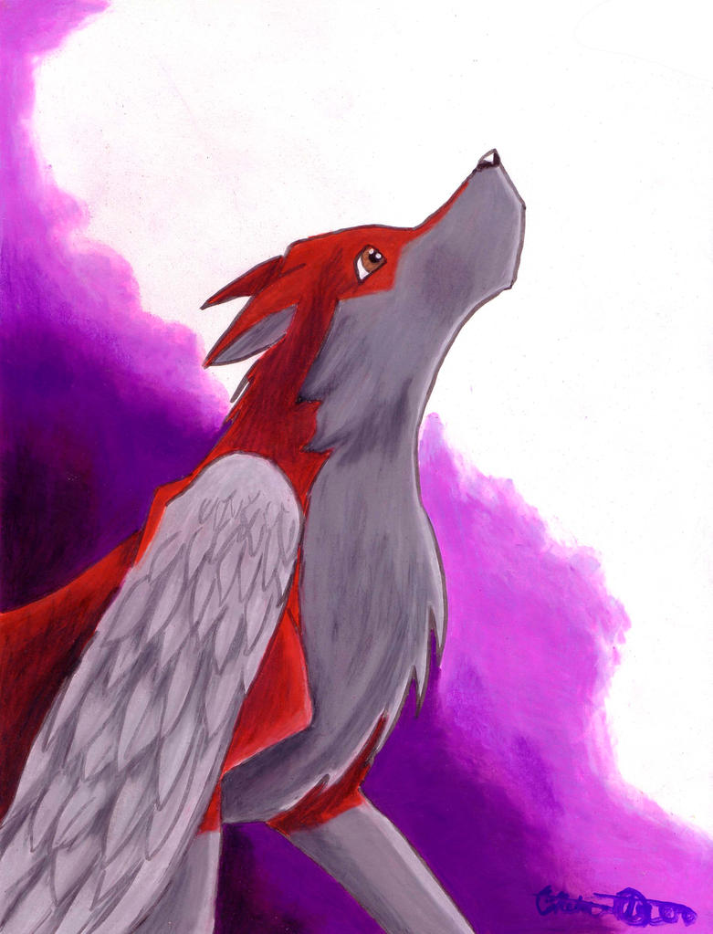 Winged Wolf by Flyinfrogg