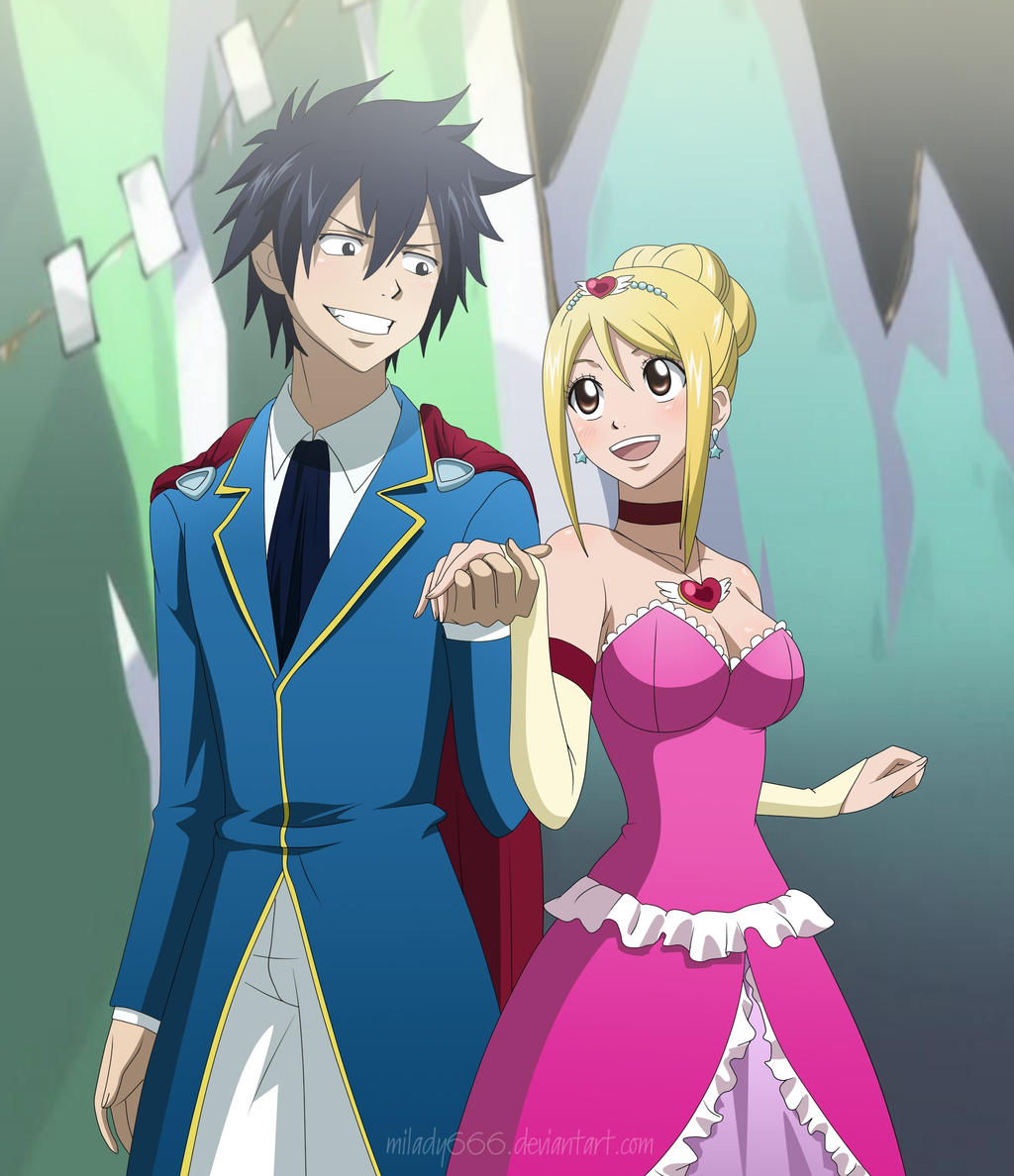 Gray and Lucy by Milady666 on DeviantArt