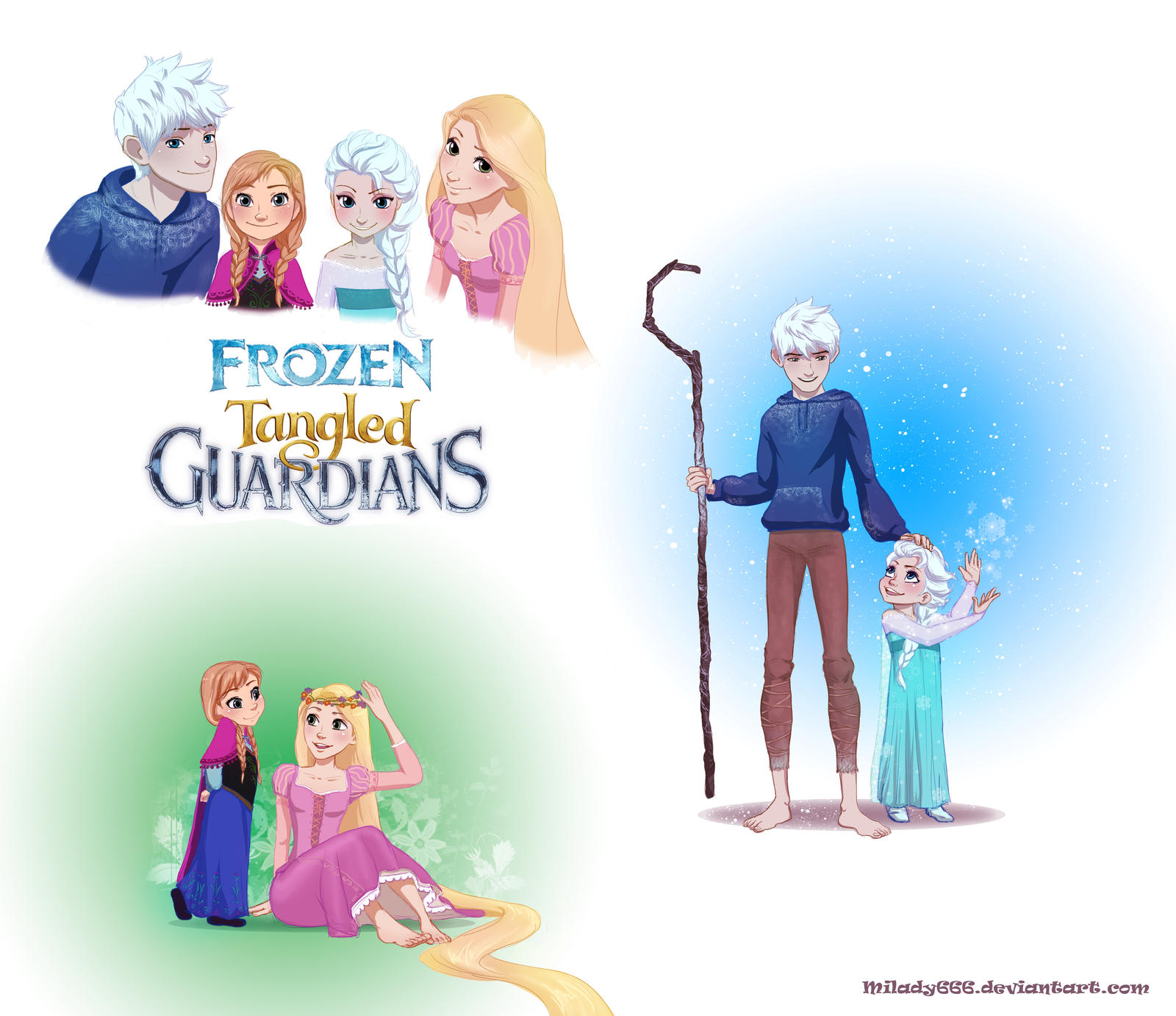 Frozen Tangled Guardians by Milady666