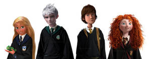 The Big Four Hogwarts AU