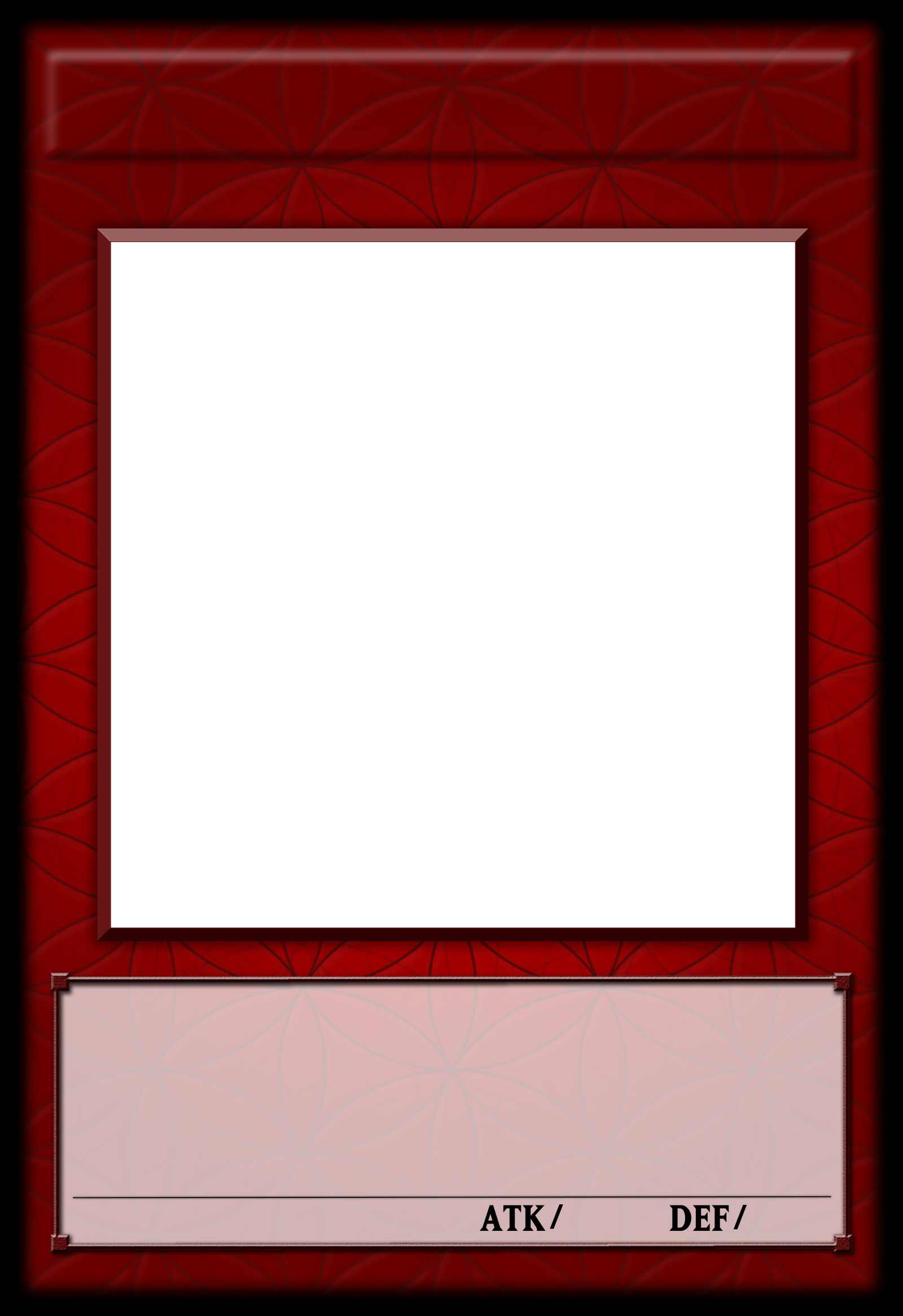 mosnter template - yu gi oh fractional monster template by polarbearoc on