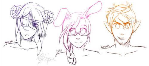 Just some sketcherinos by TJ-Hiyama