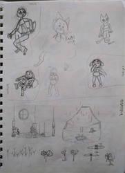 Various - Aquatifur doodles, buildings, grasses