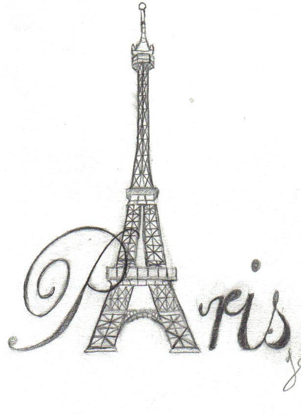 Paris tattoo design by joroumii on deviantart for Salon tattoo paris