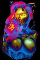 Devil lady by Derezzer01