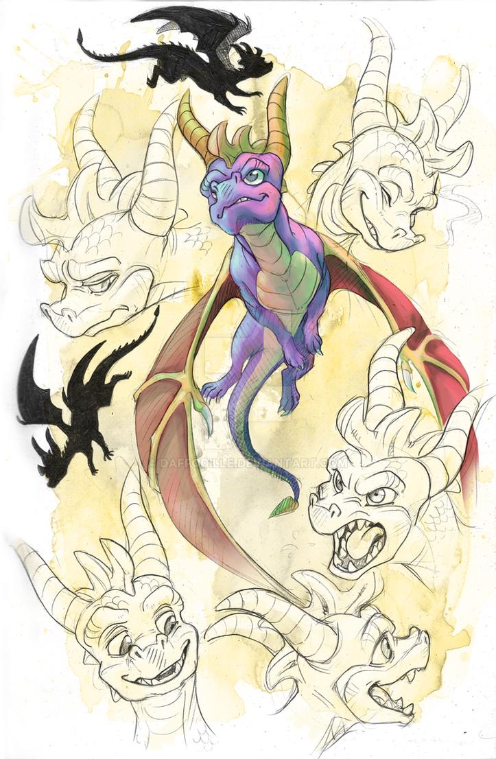 Spyro 'Spressions by DaffoDille
