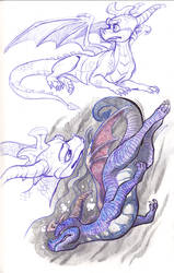 Spyro Doodles by DaffoDille