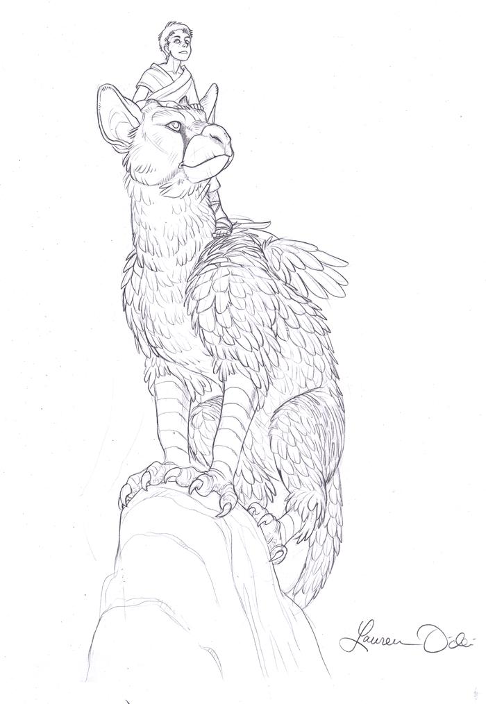 Трико из the last guardian рисунок