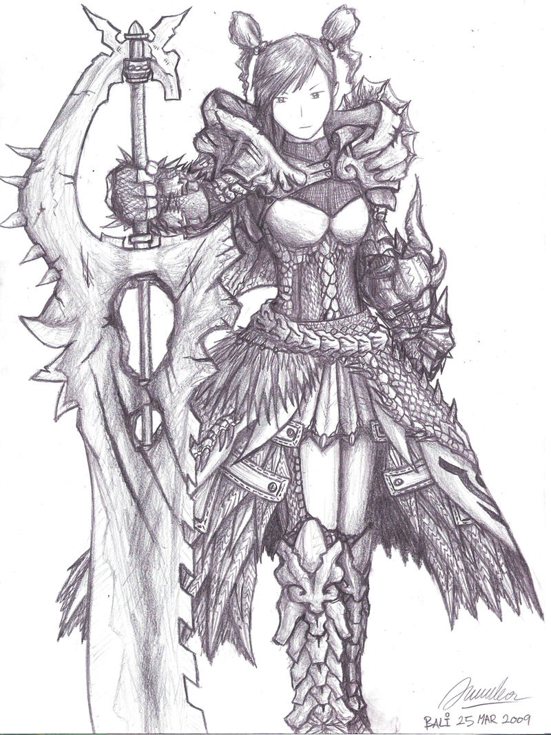 Female Dragon Slayer Sketch By Adventdeo On Deviantart