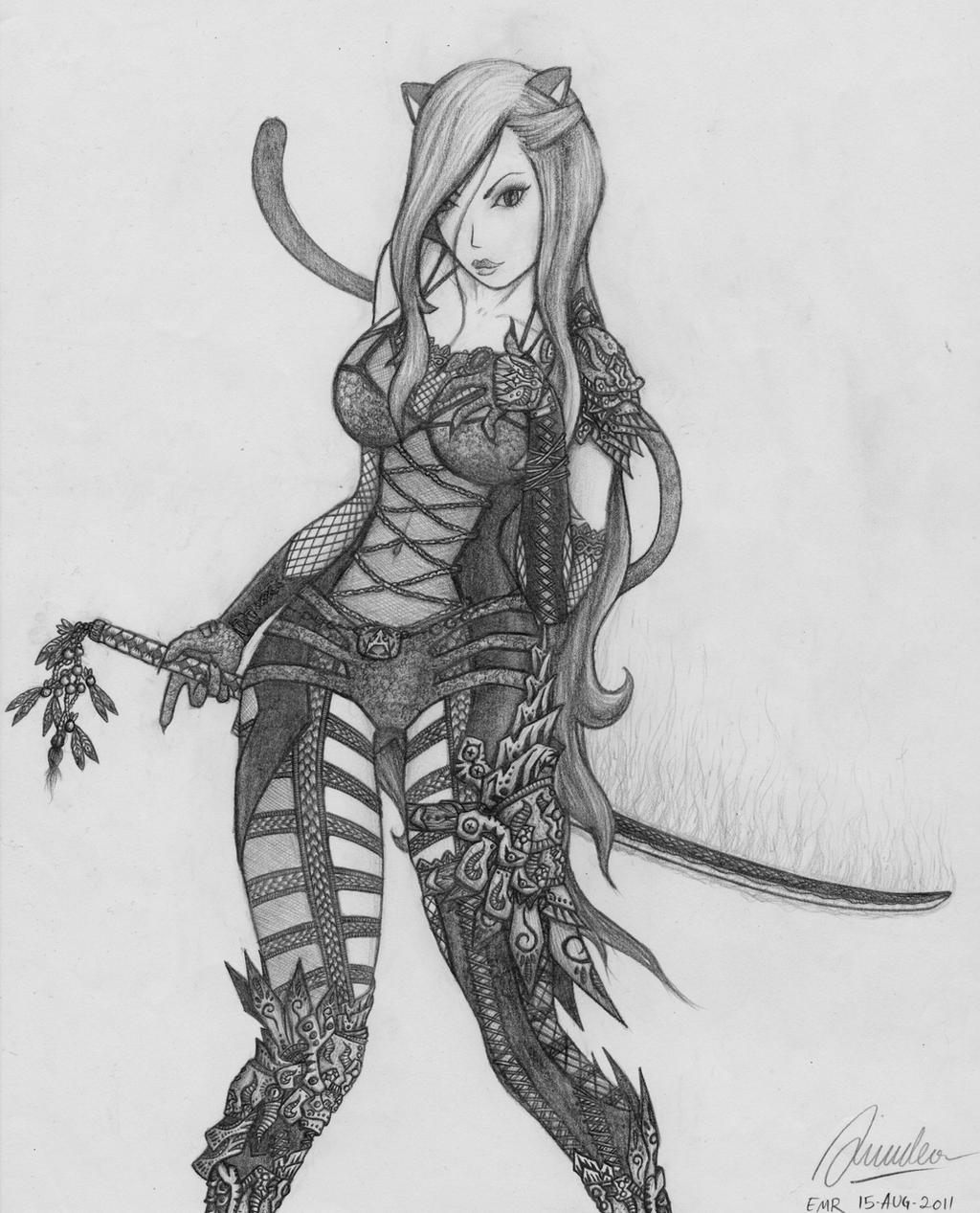 Female Neko Assassin by AdventDeo on DeviantArt
