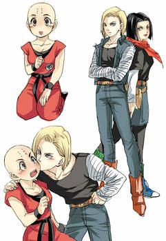Female Krillin and the twins