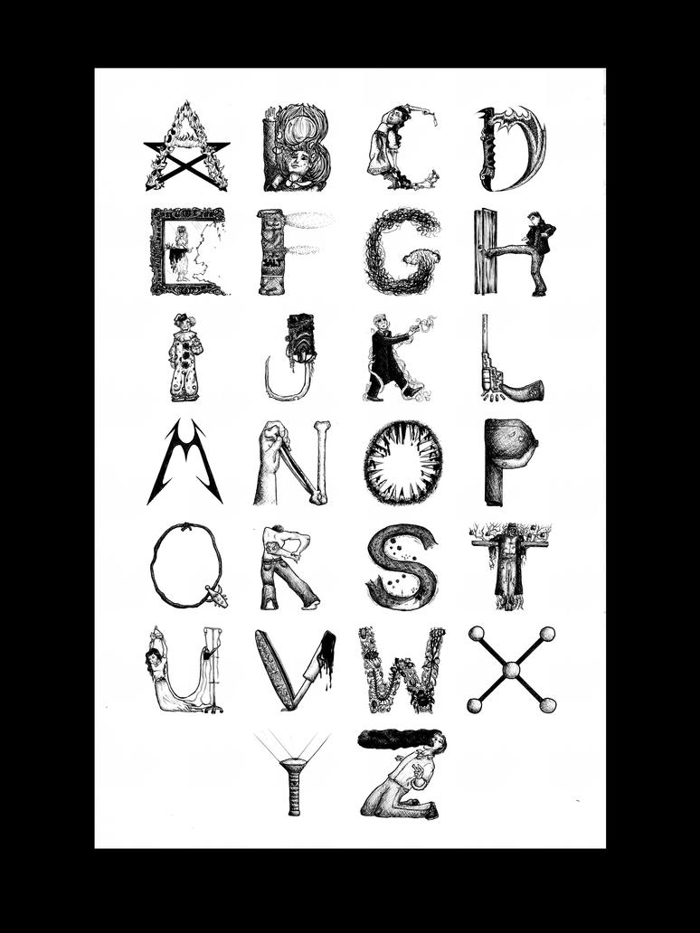 Supernatural Alphabet by jubilicious