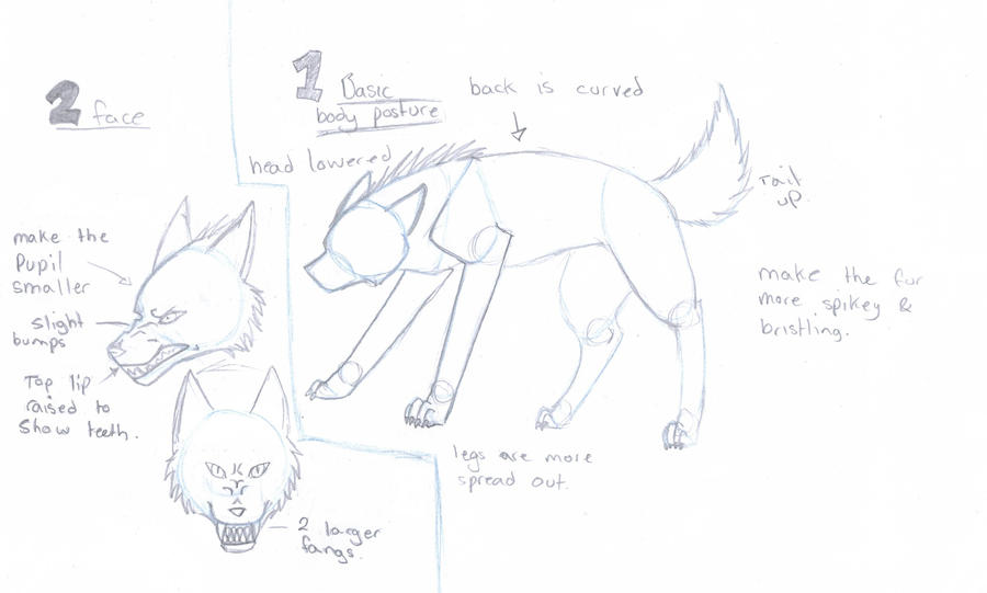 Realistic Drawings Of Wolves Growling Snarling wolf Tutorial by
